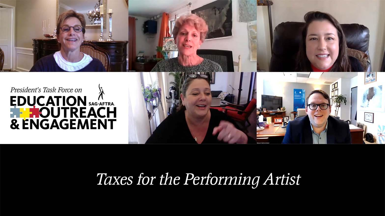 PTEOE Taxes for the Performing Artist video Thumbnail