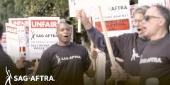 SAG-AFTRA Video Games Strike - Gabrielle Carteris at the EA Picket