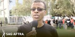 SAG-AFTRA Video Games Strike - Phil LaMarr at the EA Picket