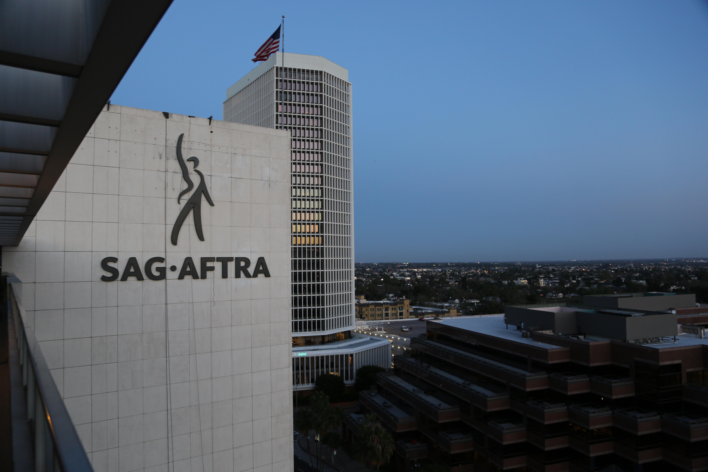 SAG-AFTRA sign on Wilshire